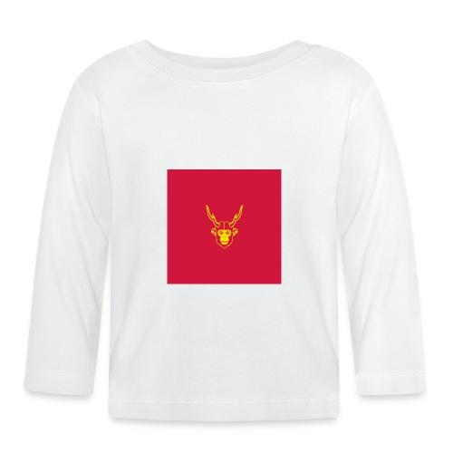 scimmiacervo sfondo rosso - Maglietta a manica lunga per bambini