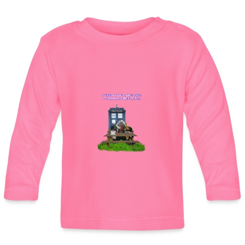 TIME AND SPACE AND TEA - Baby Long Sleeve T-Shirt