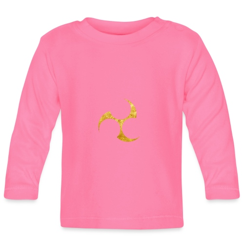 Kobayakawa Mon Japanese clan gold on black - Baby Long Sleeve T-Shirt