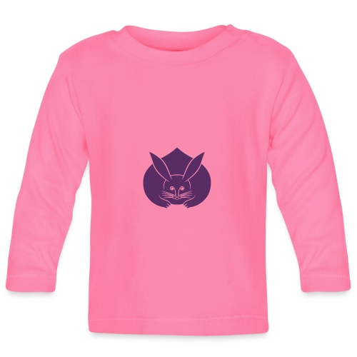 Usagi kamon japanese rabbit purple - Baby Long Sleeve T-Shirt
