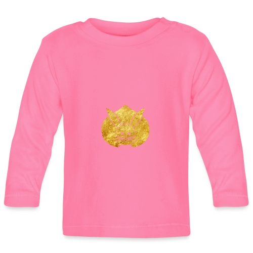 Usagi kamon japanese rabbit gold - Baby Long Sleeve T-Shirt