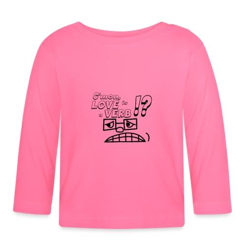 love is a verb - Koszulka niemowlęca z długim rękawem