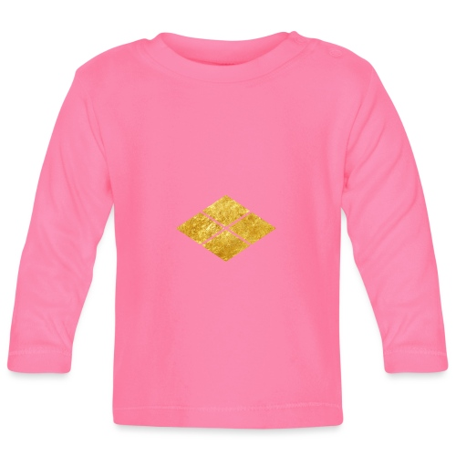 Takeda kamon Japanese samurai clan faux gold - Baby Long Sleeve T-Shirt