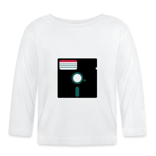 5 1/4 inch floppy disk - Vauvan pitkähihainen paita