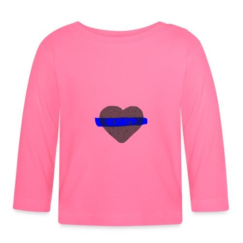 serduszko blu - Koszulka niemowlęca z długim rękawem