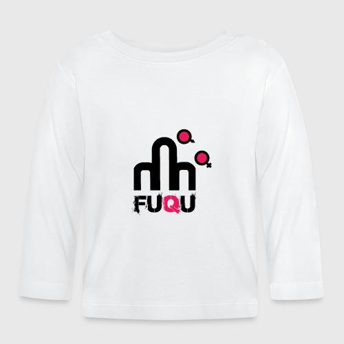 T-shirt FUQU logo colore nero - Maglietta a manica lunga per bambini