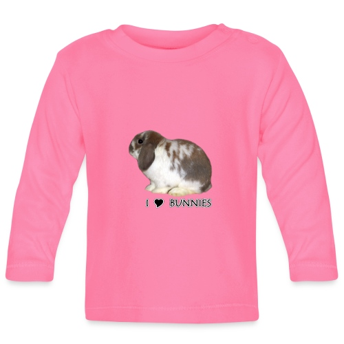 I Love Bunnies Luppis - Vauvan pitkähihainen paita
