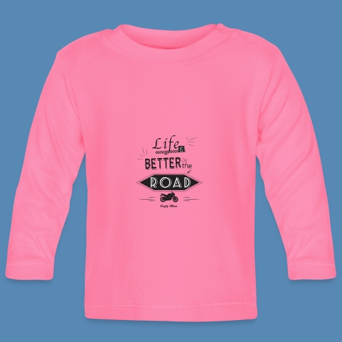 Moto - Life is better on the road - T-shirt manches longues Bébé