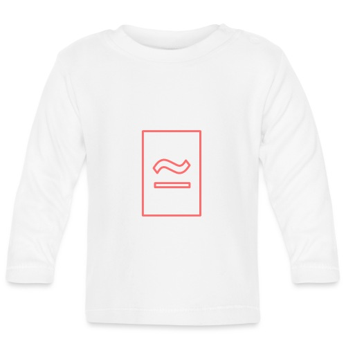 The Commercial Logo (Salmon Outline) - Baby Long Sleeve T-Shirt