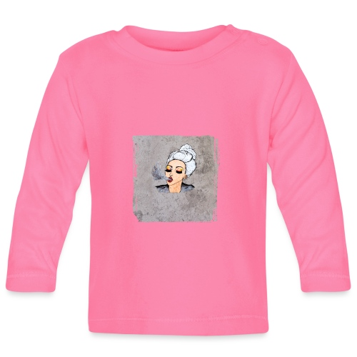 Girl blowing air or else - Baby Long Sleeve T-Shirt