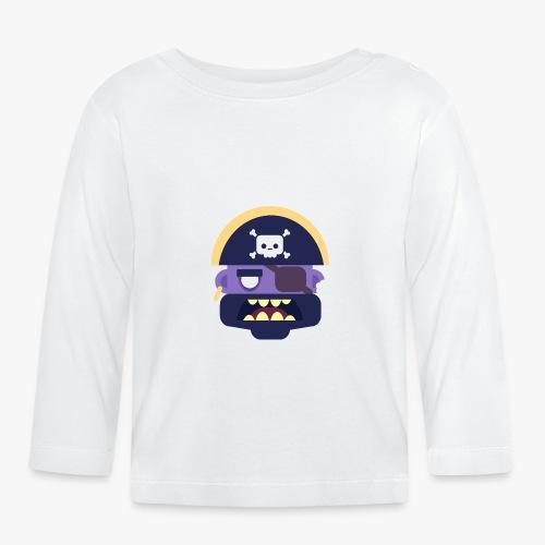 Mini Monsters - Captain Zed - Langærmet babyshirt