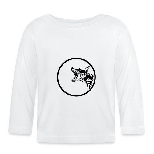 dog in a circle frame - T-shirt manches longues Bébé