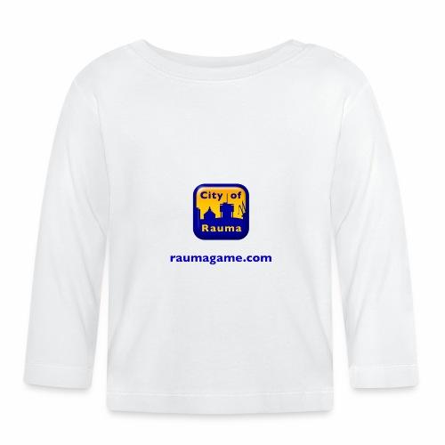 Raumagame logo - Vauvan pitkähihainen paita