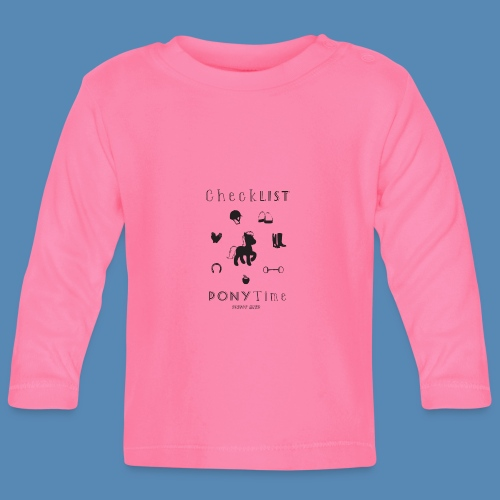 Poney - CheckList - T-shirt manches longues Bébé