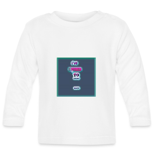 baby tshirt with ive subed to my channel - Baby Long Sleeve T-Shirt