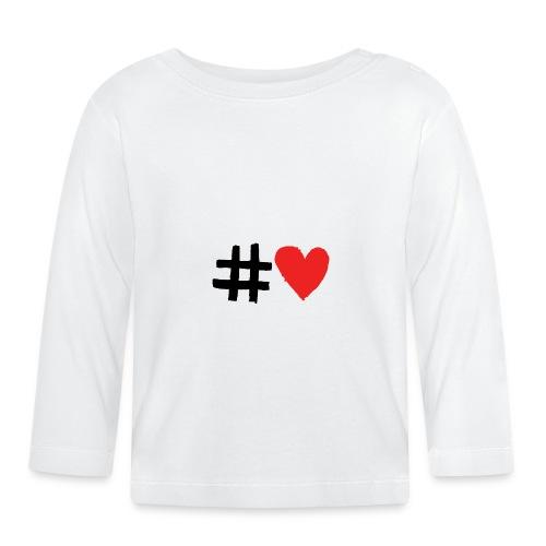 #Love - Langærmet babyshirt