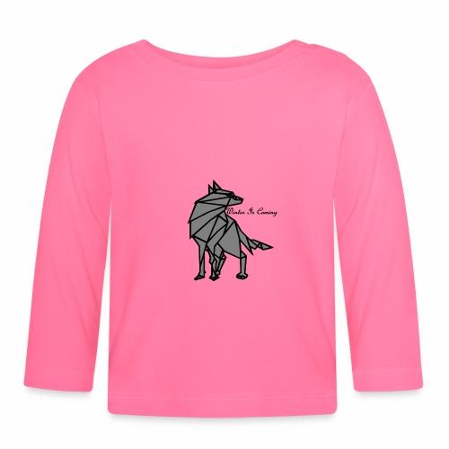 loup l'hiver vient - T-shirt manches longues Bébé