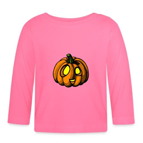 Pumpkin Halloween scribblesirii - Baby Langarmshirt
