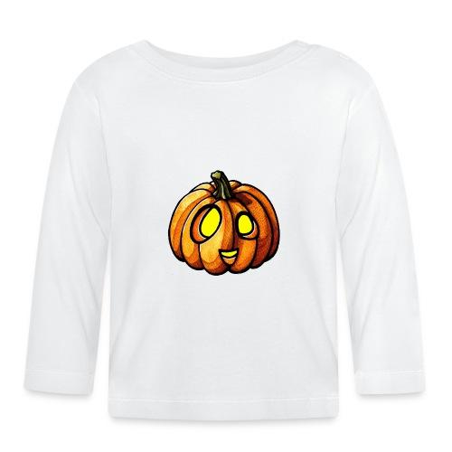 Pumpkin Halloween watercolor scribblesirii - Vauvan pitkähihainen paita