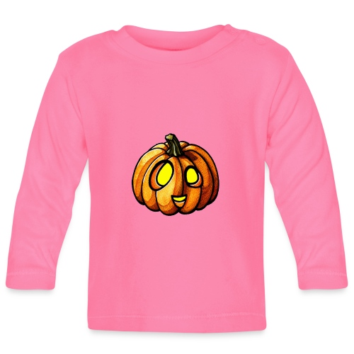 Pumpkin Halloween watercolor scribblesirii - Baby Langarmshirt