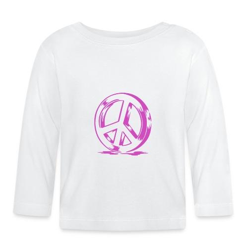 Peace and Love - T-shirt manches longues Bébé