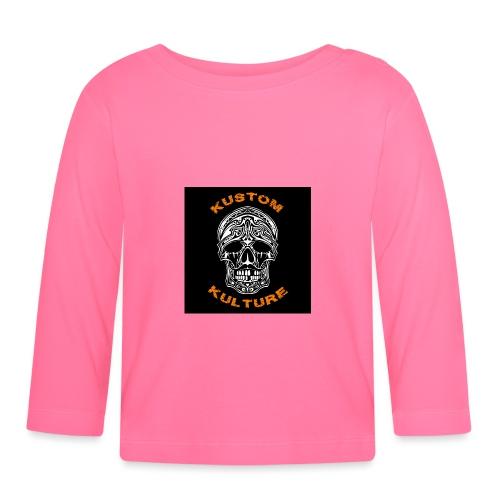 Skull Moustachu - T-shirt manches longues Bébé