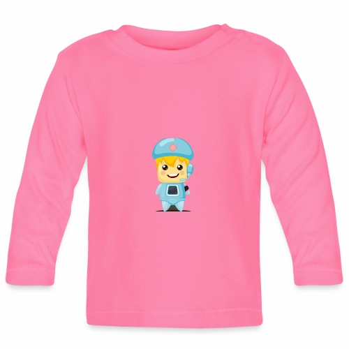 robot medico - Camiseta manga larga bebé