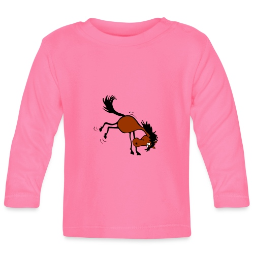 buckelndes Pferd - Baby Langarmshirt
