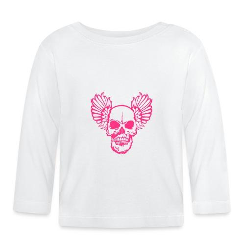 tete mort aile wing2 skull head dead1 - T-shirt manches longues Bébé