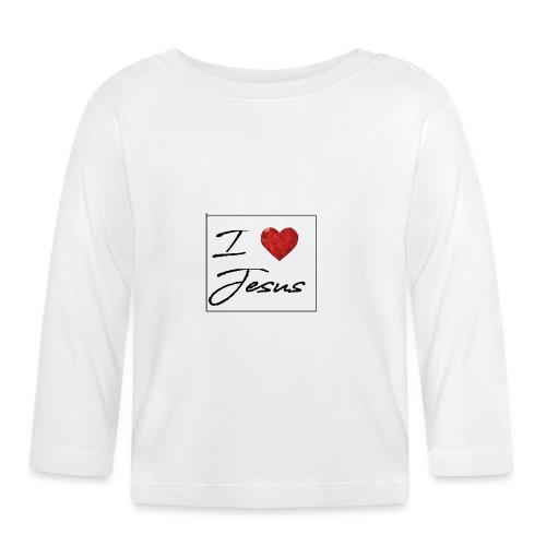 I LOVE JESUS I Christliches Tshirt Ich liebe Gott - Baby Langarmshirt