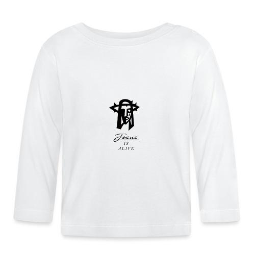 Jesus lebt - Jesus is alive Christliches Tshirt - Baby Langarmshirt