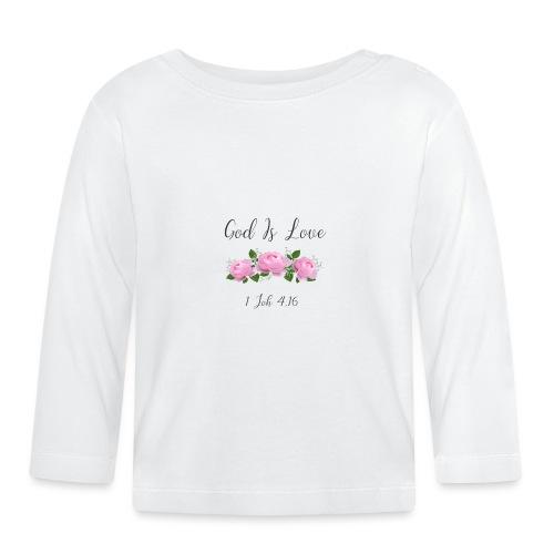 Gott ist Liebe Christliche Tshirt Geschenke Jesus - Baby Langarmshirt