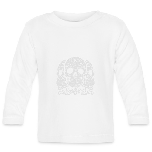 Skull Dia de los muertos - T-shirt manches longues Bébé