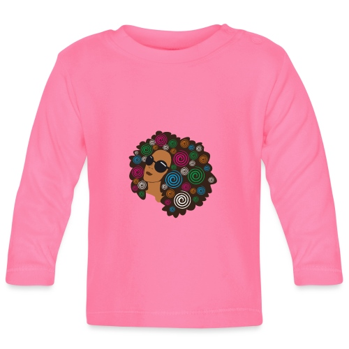 big_bold_afro - Baby Long Sleeve T-Shirt