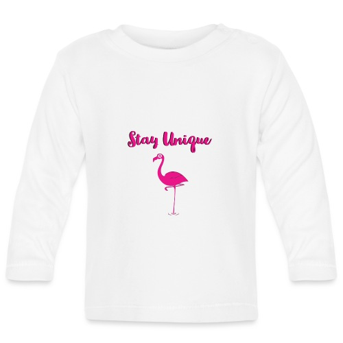 Stay Unique Flamingo - Baby Langarmshirt