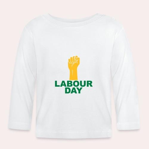 Día del trabajo / Puño en alto - Camiseta manga larga bebé