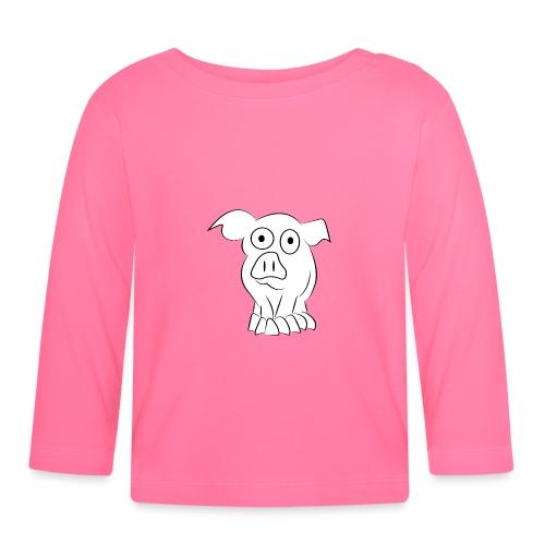 white pig - Maglietta a manica lunga per bambini