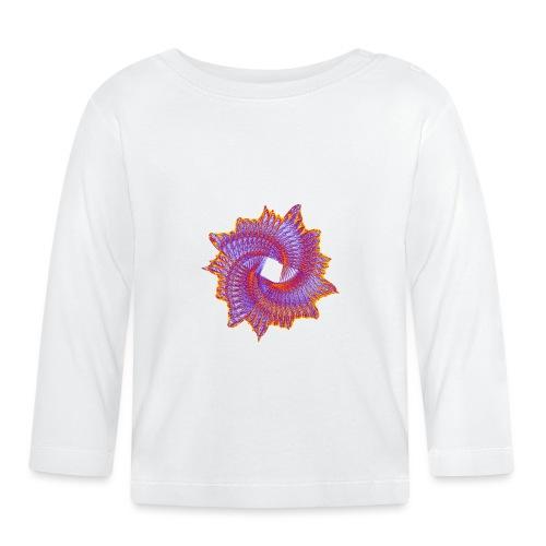 Spiral fan ammonite prehistoric animal fossil 11912bry - Baby Long Sleeve T-Shirt