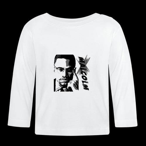 Malcom X Black and White - Baby Langarmshirt