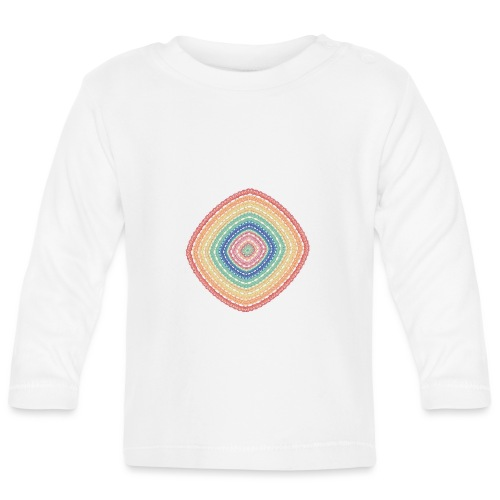 Lucky square in summery colors - Baby Long Sleeve T-Shirt