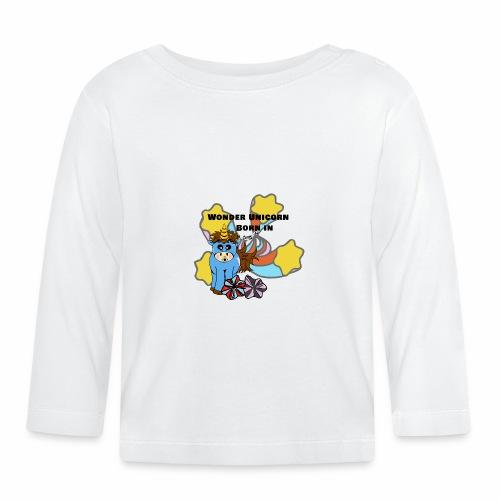 Une merveilleuse licorne est née (pour garcon) - T-shirt manches longues Bébé
