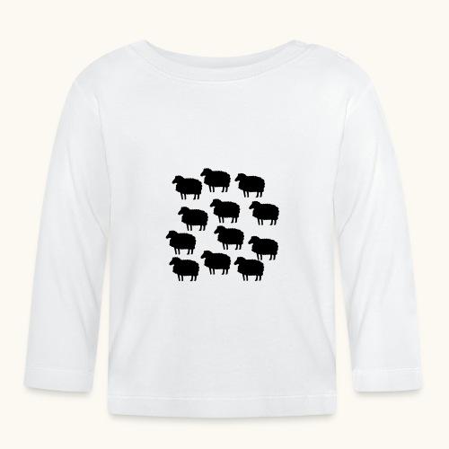 Farbe anpassbar lustige Schafherde Geschenkidee - T-shirt manches longues Bébé