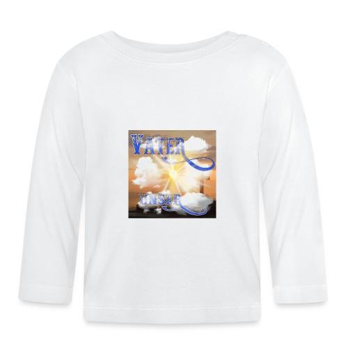VATER UNSER - Sonnenschein Kreuz Wolken Meer - Baby Langarmshirt