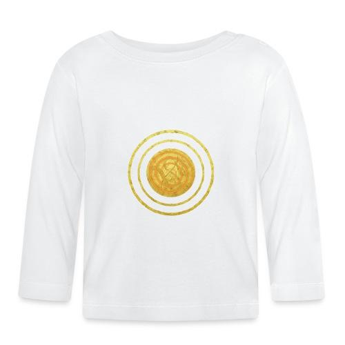 Glückssymbol Sonne - positive Schwingung - Spirale - Baby Langarmshirt