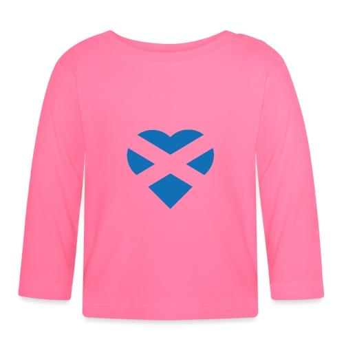 Flag of Scotland - The Saltire - heart shape - Baby Long Sleeve T-Shirt