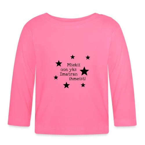 Miekii oon yks Imatran Ihmeist lasten t-paita - Vauvan pitkähihainen paita