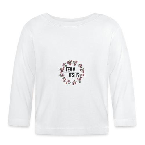 Team Jesus - Christliches Shirt Design Rosenblüten - Baby Langarmshirt