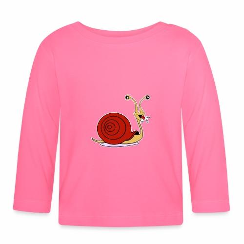 Escargot rigolo red version - T-shirt manches longues Bébé