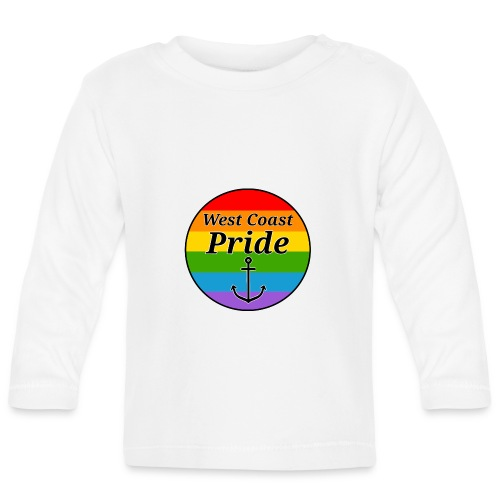 rainbow pride flag - Langærmet babyshirt