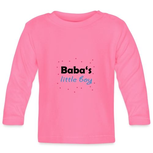 Baba's litte boy Babybody - Baby Langarmshirt